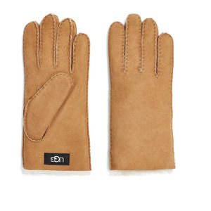 UGG MENS SHEEPSKIN GLOVES CHESTNUT SZ L
